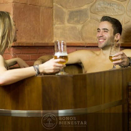 Circuito Beer Spa en el Beer Spa Granada
